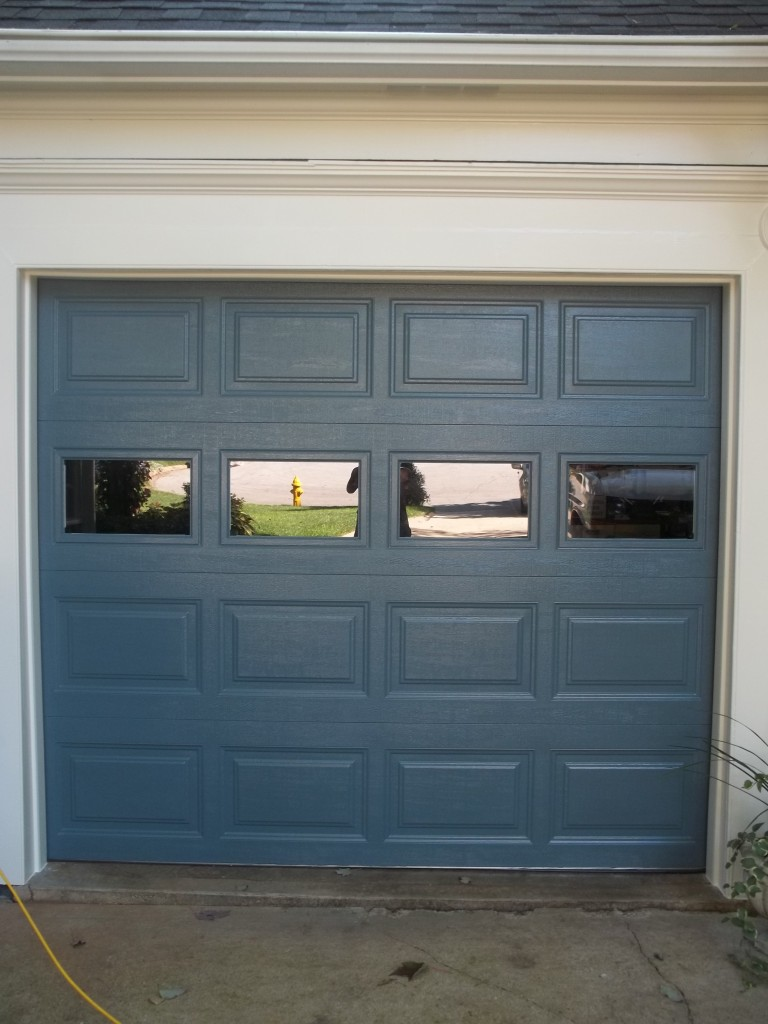 Blue One Car Garage Door In Dumfries Affordable Door